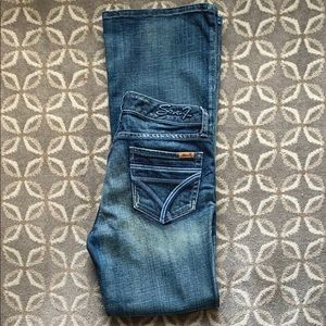 Seven7 flare jeans.